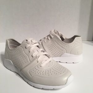 Ugg Tye White Perforated Leather Sneakers